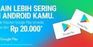 Voucher Google Play Go Jek Tokopedia