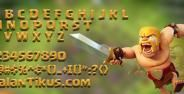 Font Clash Of Clans Banner