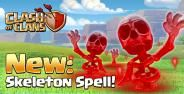 Skeleton Spell Clash Of Clans Banner