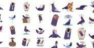 Stiker Burung Ungu Di Facebook Banner