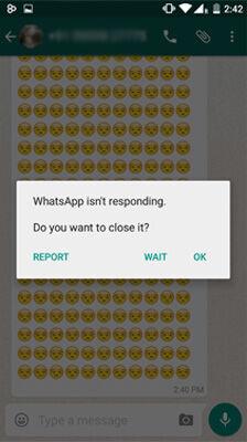 Cara Usil Membuat Whatsapp Not Responding Menggunakan Smiley 1
