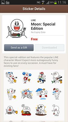 Download Sticker LINE Gratis Moon Special Edition 2
