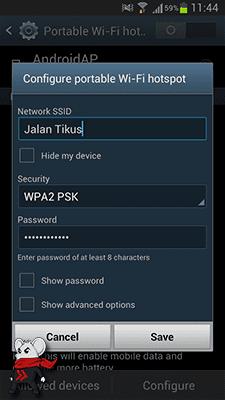 Cara Mengubah Android Menjadi Modem WiFi 5