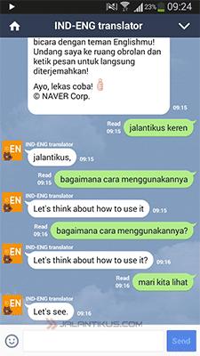 Cara Menggunakan Kamus Di LINE For Android 2