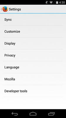 Fitur Baru Yang Ada Di Browser Firefox 32 For Android 1
