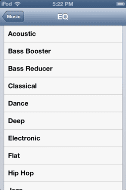 Cara Mengatur Equalizer Di Ipod Touch 1