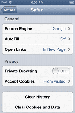Cara Menggunakan Private Browsing Safari 2