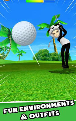 Main Golf Di Game Baru LINE LETS GOLF 2