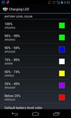 Aplikasi Android Charging Led