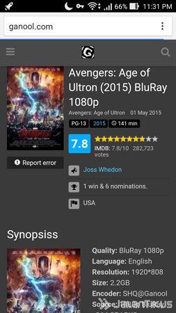 Cara Download Film Ganool Android 8