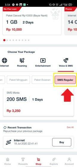 Cara Cek Paket Sms Telkomsel E3628
