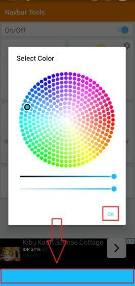 Cara Mengubah Warna Navigasi Bar Android Langkah Lima 420ab