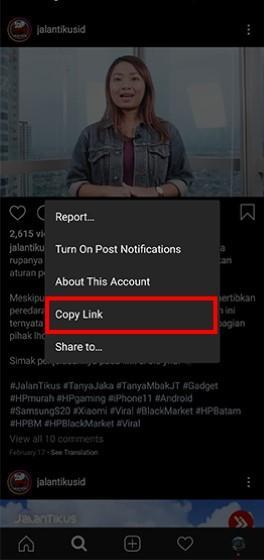 Cara Menyimpan Video Dari Instagram Ke Galeri Hp Jalantikus Com