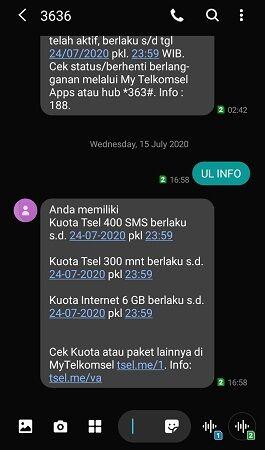 5 0fe33 - 3 Cara Mudah Cek Kuota Telkomsel