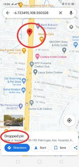 Cara Mengetahui Koordinat Di Google Maps Android F5792