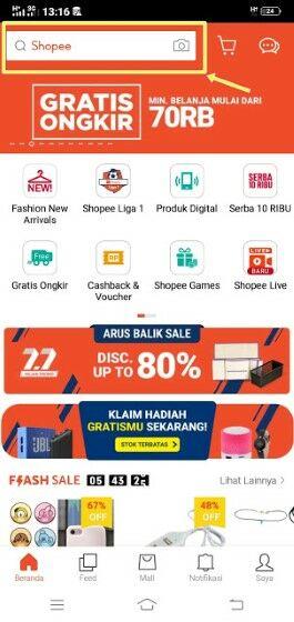 Cara Mencari Toko Di Aplikasi Shopee 56d56