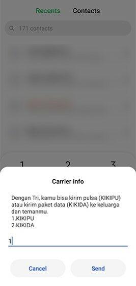 Cara Transfer Pulsa 3 Kikipu 3 Dafe7