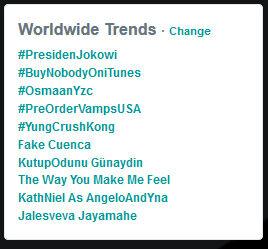 Hashtag Presiden Jokowi Menjadi Trending Topic WorldWide