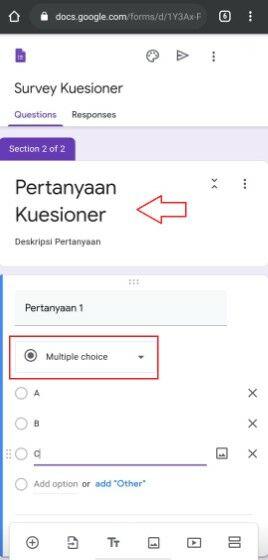 Cara Bikin Kuesioner Google Form 31b89