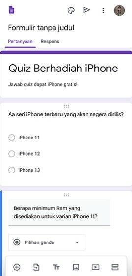 Cara Membuat Quiz Di Google Forms F76a9