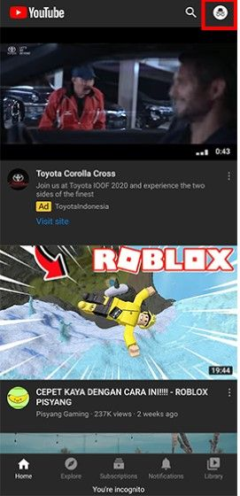 Youtube Incognito E3a2a