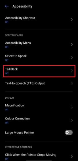 Google Talkback Accessibility 13f85