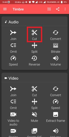 cara memotong lagu android
