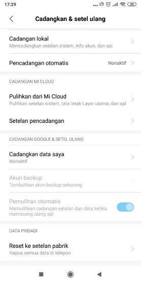 Langkah Ke Tiga Cara Reset Hp Xiaomi Melalui Setting 57b75