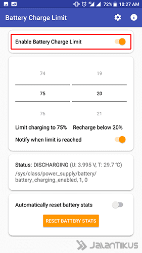Langkah 5 - Cara Charge Smartphone Android Tidak Full