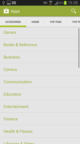 Google Play Store Categories