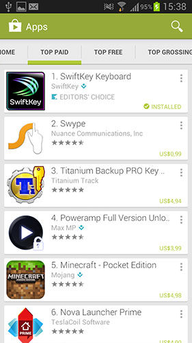 Google Play Store Top Paid