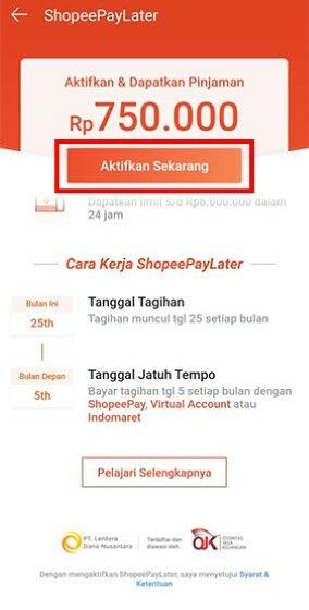 Cara Aktifkan Shopee Paylater C2c8d