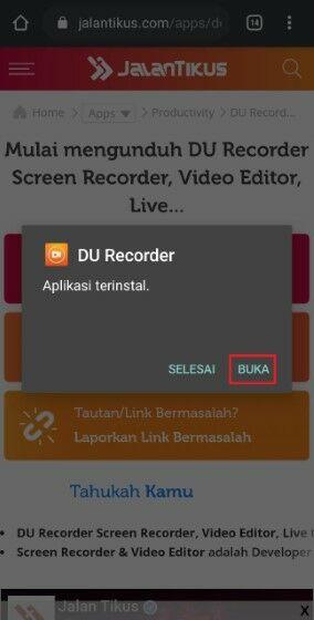 Install Du Recorder Versi Lama E188a