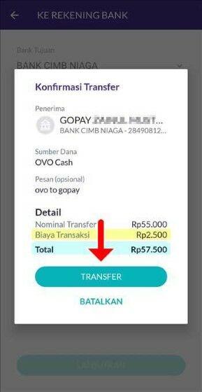 Transfer Ovo Ke Gopay 2020 E41eb