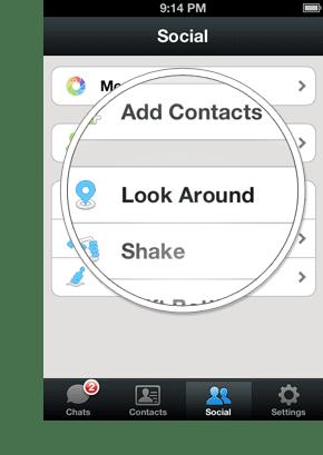 Fitur WeChat Look Around