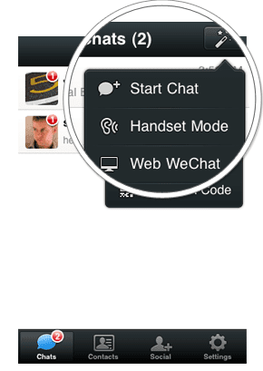 Fitur WeChat Web WeChat