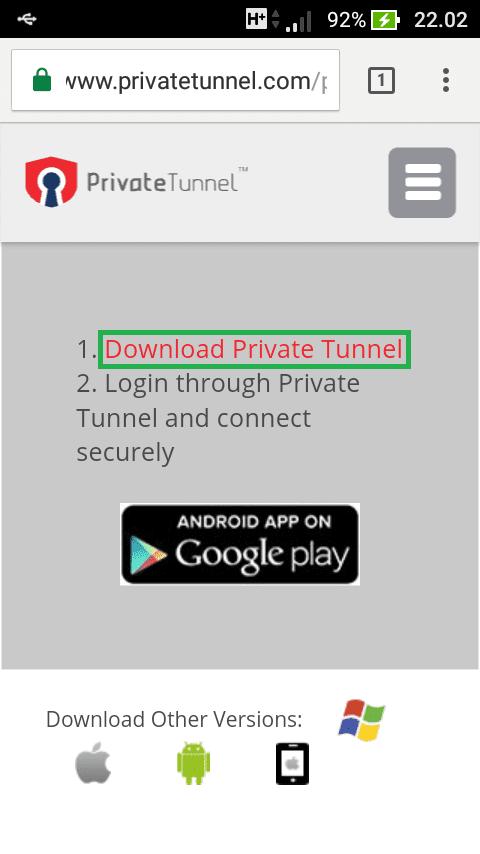 Private Tunnel 6
