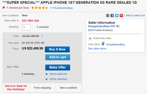 Original Apple Iphone In A Sealed Box Goes For Big Bucks At Ebay
