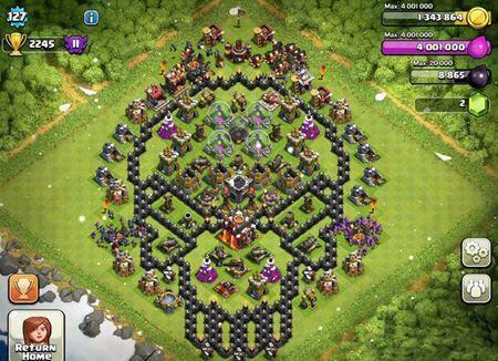 Base Coc Th 9 Bentuk Tengkorak 3