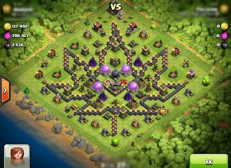 Base Coc Th 9 Bentuk Kelelawar 10