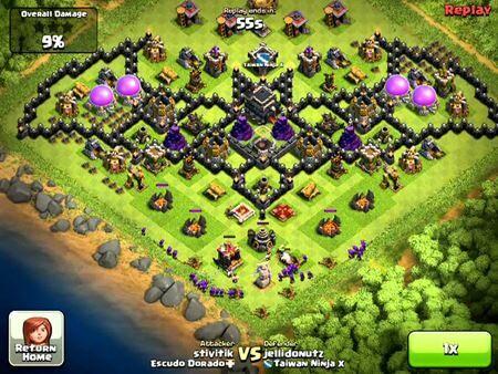 Base Coc Th 10 Unik Dan Kuat 9