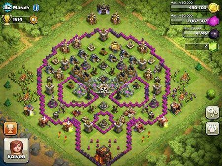 Base Coc Th 8 Gambar Tengkorak 2