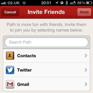 New Path Invite Fitur
