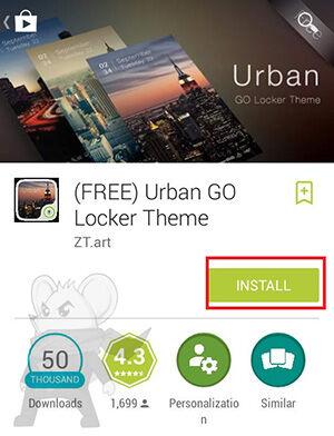 Tampilan Lockscreen Android3
