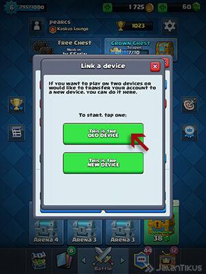 Memindahkan Akun Clash Royale 2