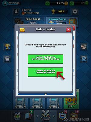 Memindahkan Akun Clash Royale 3