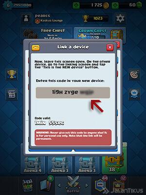 Memindahkan Akun Clash Royale 4