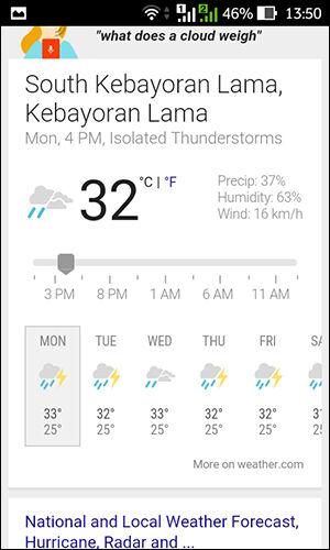 Aplikasi Cuaca Android 1