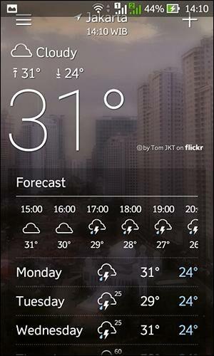 Aplikasi Cuaca Android 2