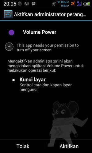 Tombol Volume Layar Android3